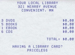 Having a Library Card? Priceless