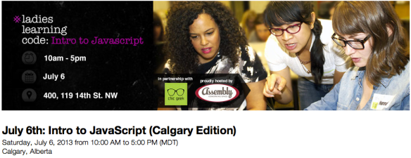 Ladies Learning to Code (Calgary Edition)