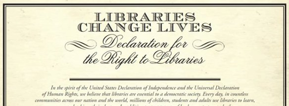 Declaration for the Right to Libraries