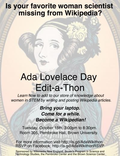 Ada Lovelace Day Edit-a-Thon